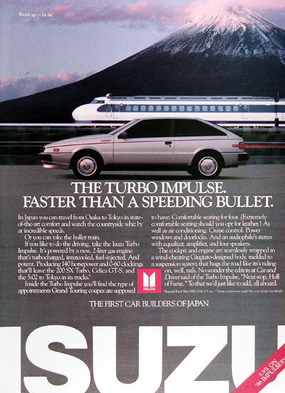 1987 Isuzu Impulse Turbo Vintage Ad #005848