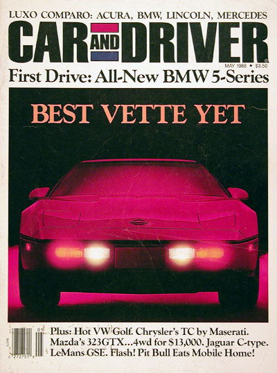1988 Car & Driver Cover - Corvette #005540
