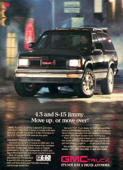 1988 GMC Jimmy S-15 #005559