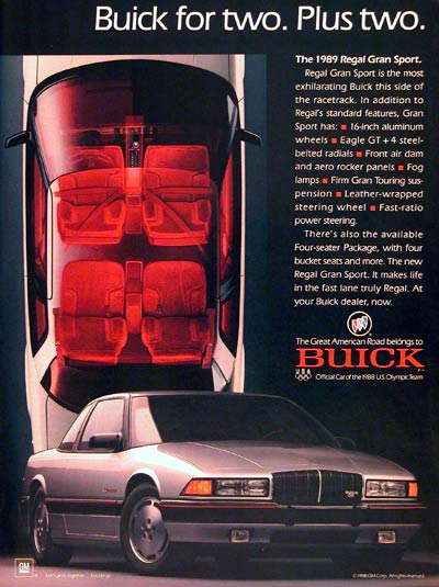 1989 Buick Regal GS #003037