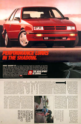 1989 Dodge Shadow ES #004378
