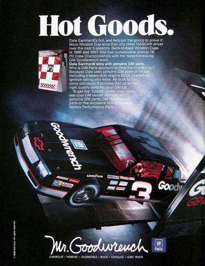 1989 Mr. Goodwrench Dale Earnhardt #023935