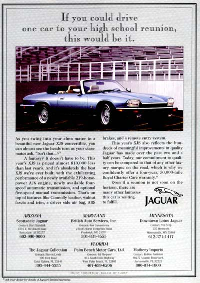 1994 Jaguar XJS Convertible #001398