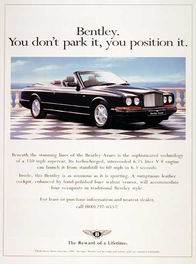 1996 Bentley Azure #002687