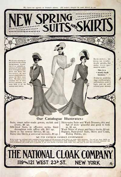 1902 National Cloak Co. Vintage Ad #001459