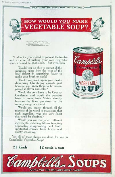 1923 Campbell's Soup Classic Ad #000119