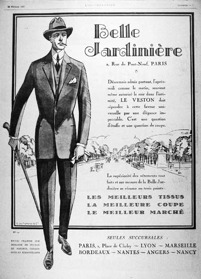 1925 Paris Fashion Vintage Ad #000160