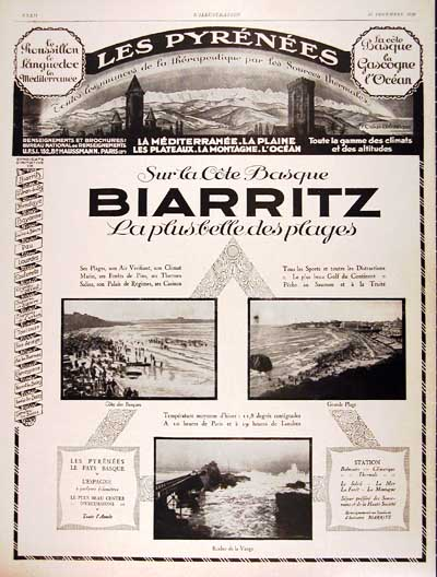 1926 Biarritz Tourism Vintage French Ad #000187
