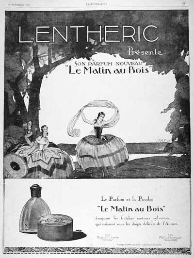1926 Lentheric Perfume Vintage French Ad #000203