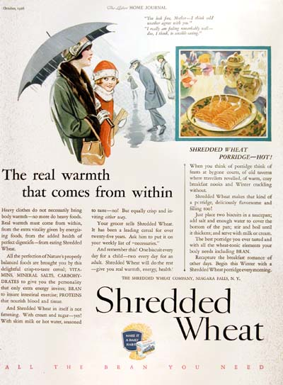 1926 Shredded Wheat Vintage Ad #000184