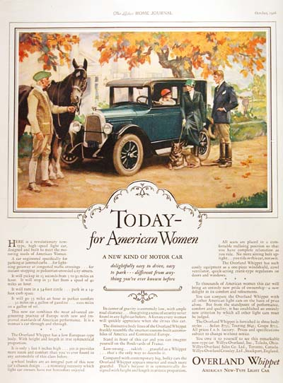 1927 Overland Whippet Vintage Ad #000216