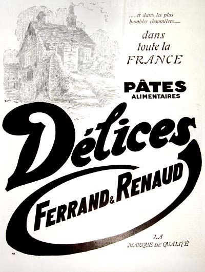 1928 Delices Pasta Vintage French Ad #000226