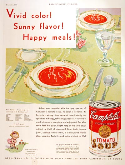 1931 Campbell's Tomato Soup Vintage Ad #000321