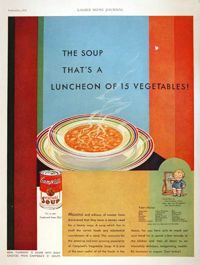 1931 Campbell's Soup Vintage Ad #000306
