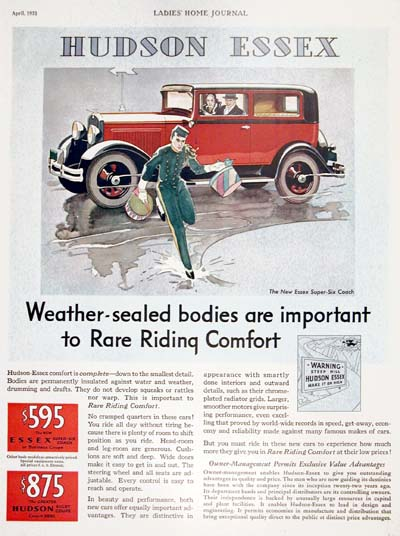 1931 Essex Super Six Coach Vintage Ad