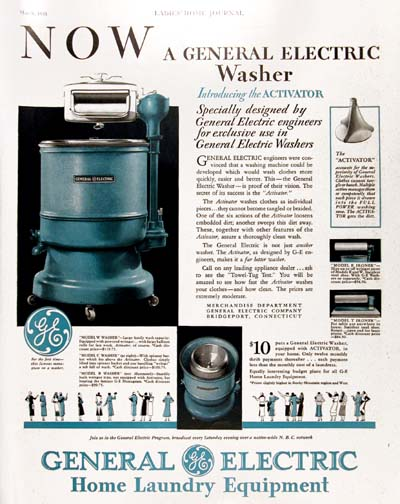 1931 General Electric Washer Vintage Ad  #000304