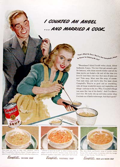 1946 Campbell's Soup Vintage Ad #000414