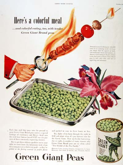 1946 Green Giant Vintage Ad #000409