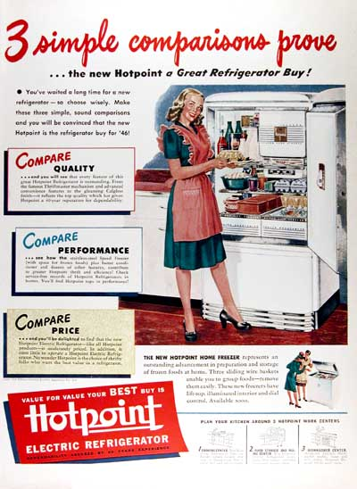 1946 Hotpoint Refrigerator Classic Ad #000415