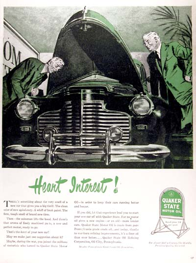 1946 Quaker State Vintage Ad #000416
