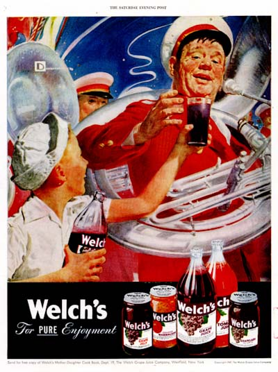 1947 Welch's Grape Juice Vintage Ad