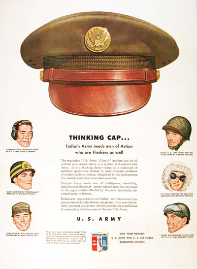 1950 U.S. Army Recruitement Vintage Ad #000501