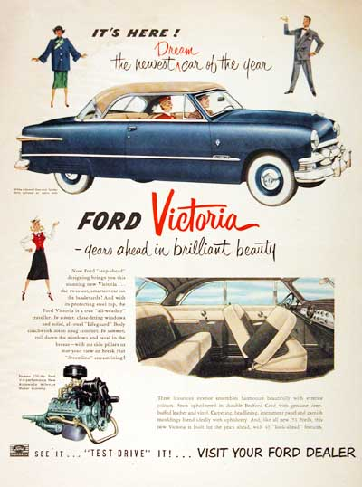 1951 Ford Victoria Vintage Ad #000687