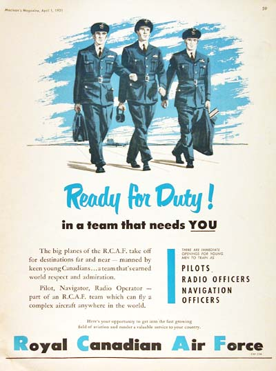 1951 RCAF Recruitement