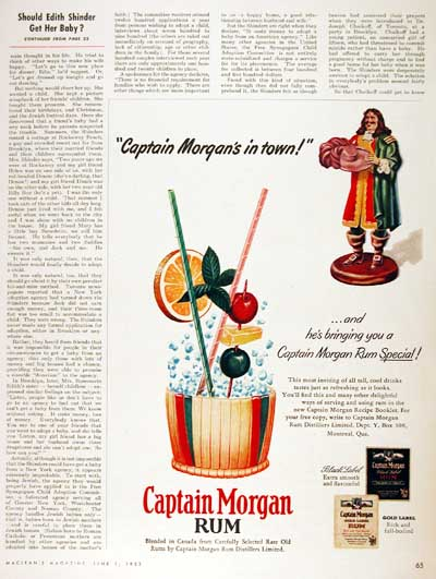 1953 Captain Morgan Rum