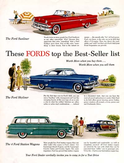 1954 Ford Best Sellers #000623