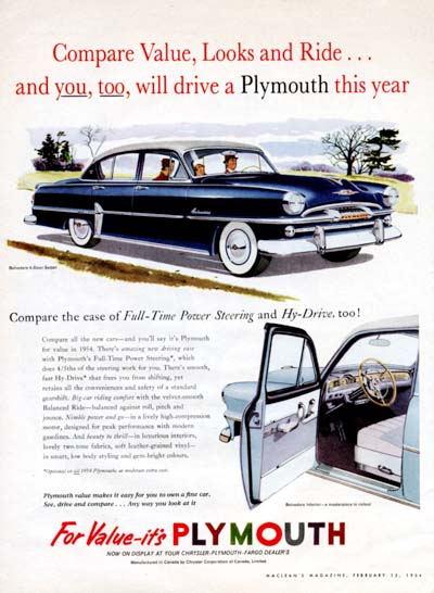 1954 Plymouth Belvedere #000600
