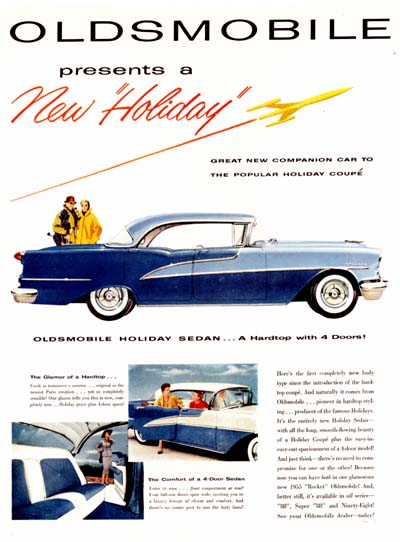 1955 Oldsmobile Holiday Sedan #000672