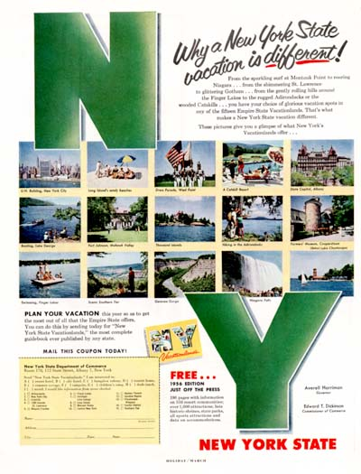 1956 New York Tourism