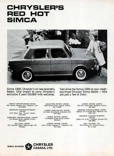 1965 Chrysler Simca