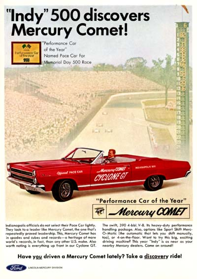 1966 Mercury Comet Cyclone #001168