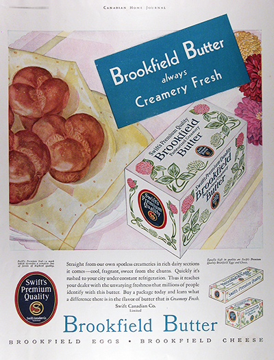 1931 Bookfield Butter Vintage Ad For Sale #025800