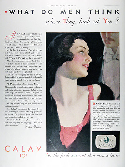 1931 Calay Beauty Soap Vintage CDN Ad #025806
