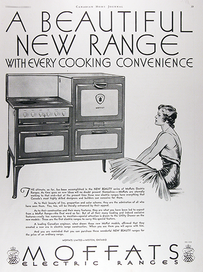 1931 Moffats Electric Range Vintage Ad #025804