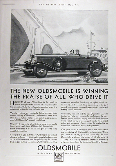 1931 Olds Convertible Roadster Vintage Ad #025816
