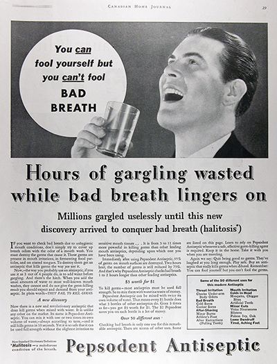 1931 Pepsodent Antiseptic Vintage Ad #025799