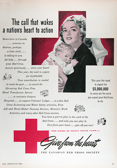 1950 Canadian Red Cross Vintage Ad #025845