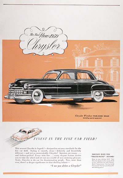 1950 Chrysler Windsor Vintage Ad