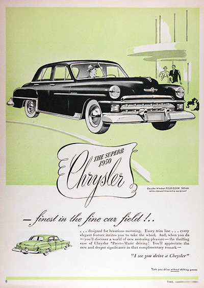 1950 Chrysler Windsor Ad