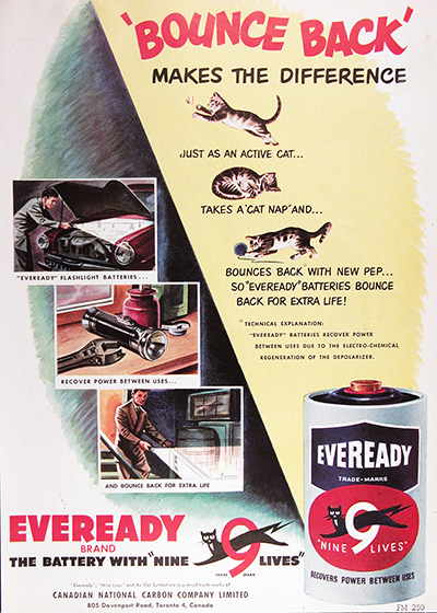 1950 Eveready Battery Vintage Ad #025512