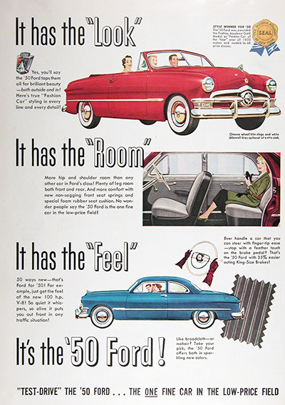 1950 Ford Convertible & Coupe Vintage Ads #025521