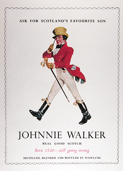 1950 Johnnie Walker Scotch Vintage CDN Ad #025828