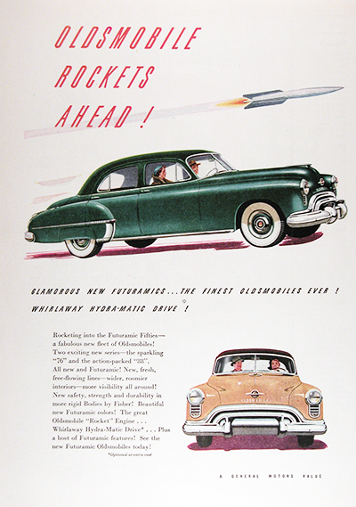 1950 Oldsmobile 76 88 Futuramic Sedan Vintage CDN Ad #025825
