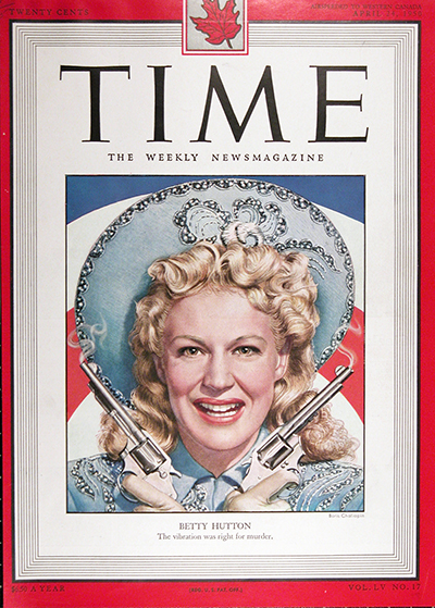 1950 CDN Time Cover ~ Betty Hutton #025