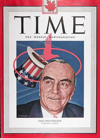 1950 Time Cover For Sale - Eddie Rickenbacker #025528