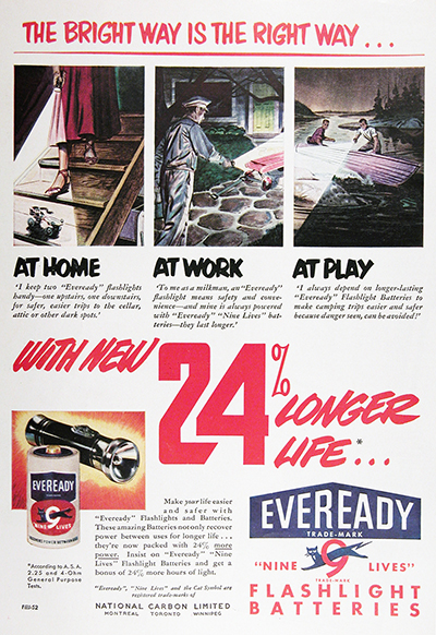 1952 Eveready Battery Vintage Ad #025540